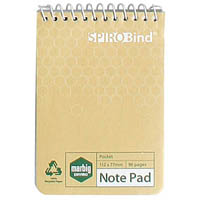 MARBIG 100% RECYCLED NOTEBOOK 96 PAGE 80 X 115MM