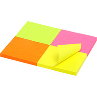MARBIG BRILLIANT MINI NOTES 200 SHEET 40 X 50MM ASSORTED PACK 4