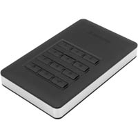 VERBATIM STORE-N-GO SECURE PORTABLE HARD DRIVE WITH KEYPAD ACCESS 2TB BLACK