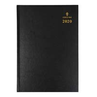 COLLINS 2020 STERLING DIARY WEEK TO VIEW 1 HOUR A5 BLACK