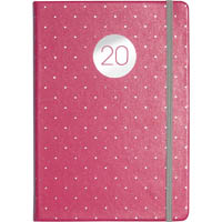 DEBDEN 2020 VAUXHALL PLUS POCKET DIARY WEEK TO VIEW 138 X 85MM PEACH AND POLKA DOTS