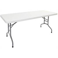 RAPIDLINE FOLDING TABLE POLY 1800 X 750MM OFF WHITE